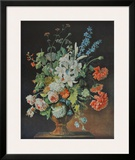 Still Life with Lilies, Poppies and Roses Art by Justus Huysum