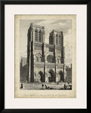 West Front-Notre Dame Prints by A. Pugin
