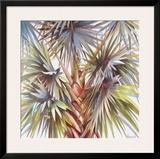Blue Palm Prints by Lois Brezinski