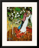 Three Candles Posters by Marc Chagall