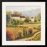 Tuscany Vineyard I Print by Michael Marcon
