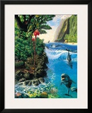 Hawaiian Island Harmony Framed Giclee Print by Andrew Annenberg