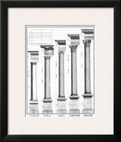The Five Orders of Architecture Print by Claude Perrault