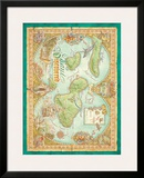 Maui Discovered, Vintage Map of Maui, Hawaii Posters by Dave Stevenson