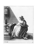 A Woman Making a Ruff, C.1640-7 Giclee Print by Geertryut Roghman