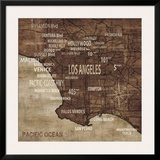 Map of Los Angeles Poster by Luke Wilson