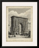 Porte St. Denis Print by A. Pugin