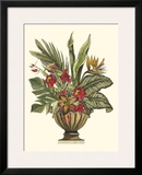 Tropical Foliage in Urn II Posters