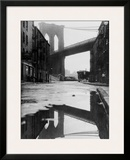 Reflecting Brooklyn Bridge Print
