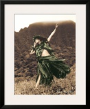 Primitive Hula, Hawaiian Hula Dancer Prints by Alan Houghton
