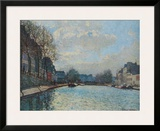 Canal Saint-Martin Posters by Alfred Sisley