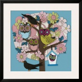 Summer Owl Tree Prints by Helen Musselwhite
