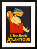 """Le """"Bon Bock"""" Atlantique Poster"""