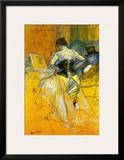 Femme Mettant Son Corset Poster by Henri de Toulouse-Lautrec