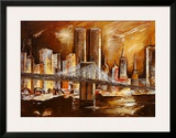 Twin Towers from the Hudson River Art by Andrea Lotte