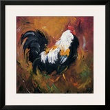 Rooster, no. 503 Framed Giclee Print by  Roz