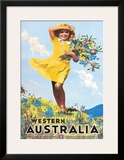 Western Australia, Flower Girl c.1936 Framed Giclee Print by Percy Trompf