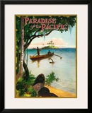 Paradise of the Pacific Magazine, Hawaii c.1930s Framed Giclee Print
