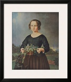 Girl with Floral Basket Poster by Ferdinand Rayski