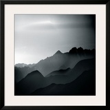 Mountain Tops Framed Giclee Print by Jurek Nems