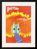 Perrier Print by Bernard Villemot