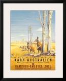 Hamburg America Line: Australian Outback, c.1935 Framed Giclee Print by Ottomar Anton