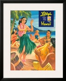 Libby's Hula Girl c.1957 Framed Giclee Print by  Lafferty