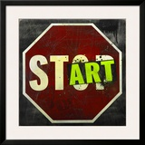 Start Framed Giclee Print by Daniel Bombardier