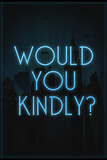 Would You Kindly Video Game Plastic Sign Targa di plastica