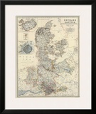 Denmark, Hanover, Brunswick, Mecklenburg, Oldenburg, c.1861 Posters by Alexander Keith Johnston