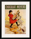 Chocolat Meyers Prints by Firmin Etienne Bouisset