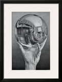 Hand with Globe Prints by M. C. Escher
