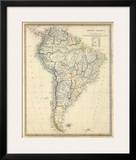 South America, c.1842 Posters