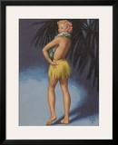 Hula Pin Up Marylin Monroe c.1951 Framed Giclee Print by E. Moran