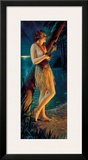 Ukulele Wahine, Topless Hula Pin-up Girl c.1930s Framed Giclee Print by Gene Pressler