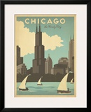 Chicago: The Windy City Framed Giclee Print by  Anderson Design Group