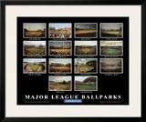 Major League Ballparks: American League Posters by Ira Rosen