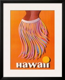 Pan American: Hawaii - Hula Skirt Framed Giclee Print