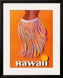 Pan American: Hawaii - Hula Skirt Framed Giclee Print