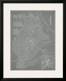 City Map of Washington, D.C. Framed Giclee Print by  Vision Studio