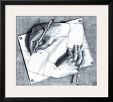 Drawing Hands Poster by M. C. Escher