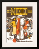 Southern Pacific Railroad: See Mexico This Year, c.1935 Framed Giclee Print by Maurice Lorand