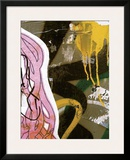 Pink Yellow Tag II Framed Giclee Print by Jenny Kraft