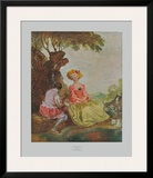 Pastoral Print by Antoine Watteau