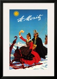 St.Moritz 1944 Posters by Hugo Laubi