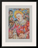 Clown witha Dog Print by Oskar Kokoschka