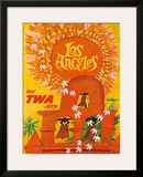 Fly TWA Los Angeles c.1959 Framed Giclee Print by David Klein