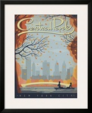 Central Park: New York City Framed Giclee Print by  Anderson Design Group