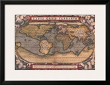 Old World Map II Posters by Abraham Ortelius