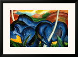 The Large Blue Horses, 1911 Poster by Franz Marc